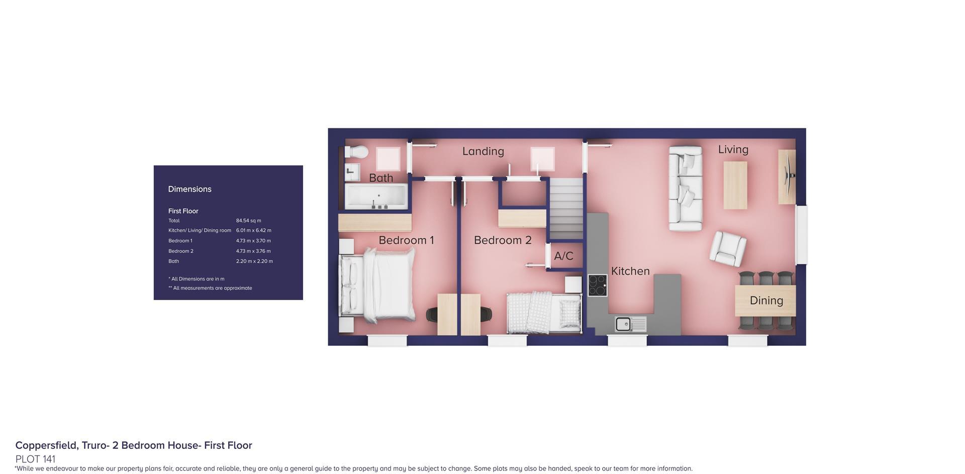 Coppersfield, Truro- 2 Bedroom House_Plot 141_ FF_